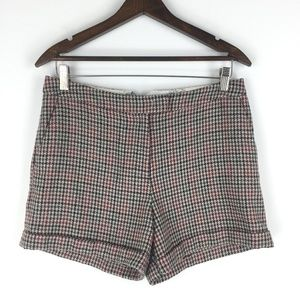 H&M Size 8 High Rise Houndstooth Shorts